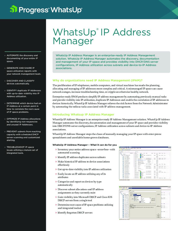 IP Address Manager
