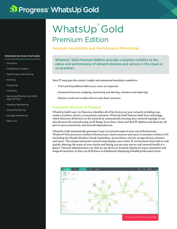 WhatsUp Gold Premium Edition