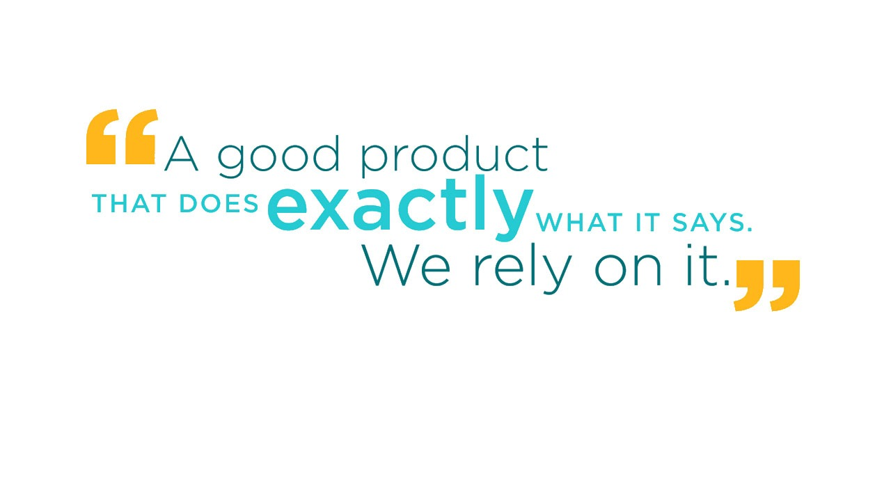 A good product that does exactly what it says. We rely on it.