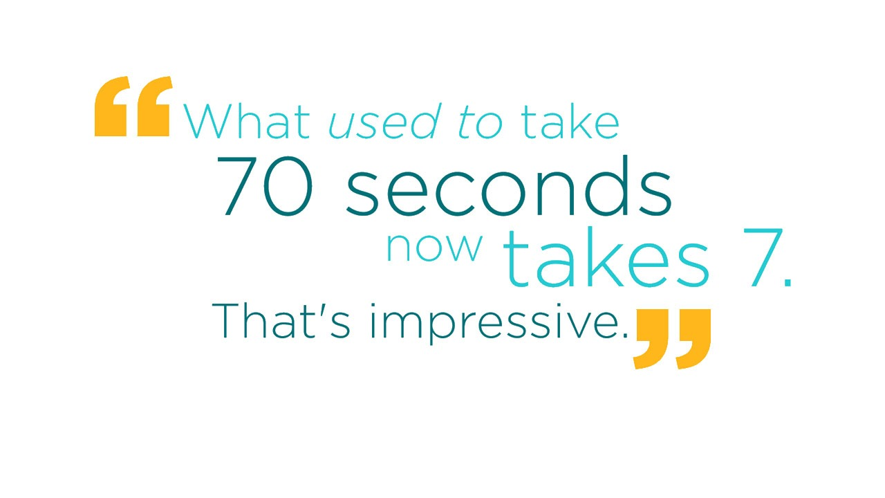What used to take 70 seconds now takes 7. That's impressive.